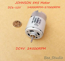 DC 6V~12V High Speed JOHNSON 545 Motor Strong magnetic Motor for Electric tools