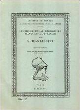 les recherches archéologiques françaises à l'étranger par Jean Leclant