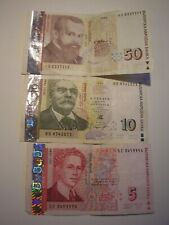 More details for three bulgaria leva bank notes legal tender 50/10/5 total value 65 leva