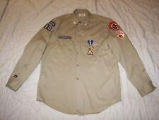 Men's Vintage Royal Rangers Khaki Shirt with Patches & Medals - 16  1/2  L