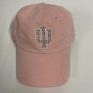 Indiana University Strapback Hat Women's Adjustable Pink NCAA Hoosiers