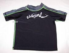 Wavezone Boys Black Grey Green Printed Short Sleeve Rash Vest Size 3 New