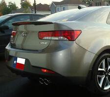 Fits: Kia Forte Koup-R 2010-2013 Flush Mount W/LED Rear Spoiler Primer Finish