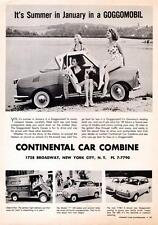 Old Print. 1959 Goggomobil Automobile Advertisement