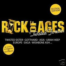 Rock of Ages-Twisted Forever CD Vixen Asia Europe saga Thin Lizzy Gottardo