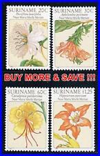 SURINAM 1981 troPical FLOWERS PAINTINGS MNH