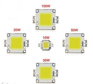 10W 20W 50W 100W Cool / Warm White High Power LED Panel Chip 100 Watt Lamp Light