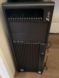 HP Z440 (500GB, Intel Xeon E5, 2.8GHz, 8GB) Desktop Unit - Black (5HX00US#ABA)