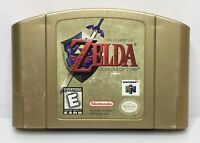 N64 Legend of Zelda: Ocarina of Time Collectors Edition Gold Cart *Authentic*