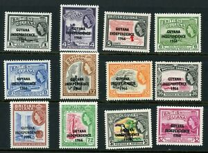Guyana 1966 Independence complete to $2 bar 3c Watermark W12 UM/MNH