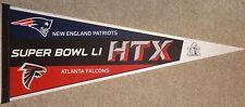 """Super Bowl LI Falcons vs Patriots Dueling 30""""  Pennant"""