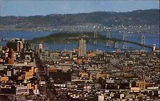 San Fransisco USA Amerika ~1960/70 Blick auf Bay Bridge East Bay Berkerly Hills