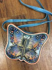 Bacci Hand Painted Genuine Leather Butterfly Crossbody Bag Small Anthropologie