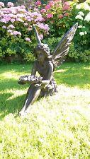 Sitting Fairy Garden Ornament Statue Bronze Effect Finish Dispatched 1-2 days
