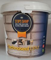 5L TECHNOSEAL LIQUID DAMP PROOF WATER PROOFING PAINT WHITE BASEMENTS FLOORS WALL