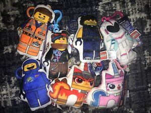 Lot Of 7 The Lego Movie 2 Plush 2D Clip Accessory Unikitty Angry Kitty Emmet....