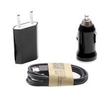 Cargador 3 en 1 casa coche cable de datos Type-C BQ Aquaris C