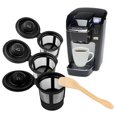 3PCS Reusable Coffee Capsules Cup Filter Stainless For Keurig K-Cup + 1PCS Spoon