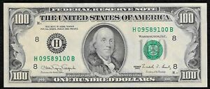 "1990 $100 ""ST. Louis"" Federal Reserve Note ""Crisp Choice New"""