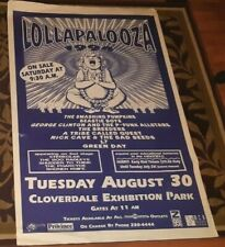 LOLLAPALOOZA VANCOUVER 1994 ORIGINAL POSTER AND LOCAL CREW PASS SET HUGE WOW!