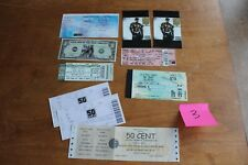 50 Cent - 7 concert tickets 2 cards 1 dollar bill Lot #3 - Free Shipping -
