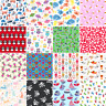 Childrens Fabric HALF METRE Kids POLYCOTTON Material Boy Girl Dress Nursery