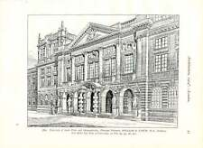 1904 Public Offices Camberwell University South Wales Monmouthshire Principal En