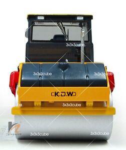 Yellow 1:35 VIBRATORY ASPHALT COMPACTOR ROLLER Diecast Model Construction Car