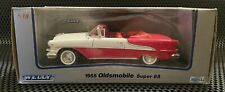 1955 Oldsmobile Convertible Super 88 Diecast Car On Base In Box 1:18 Scale