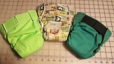Bum-ware AIO cloth baby diapers with hook and loop closure size medium /set of 3