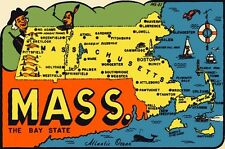 Vintage Travel Decal Replica Window Cling - Massachusetts
