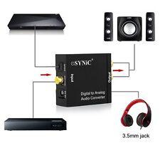 DAC Convertitore Adattatore Audio da Coaxial Toslink Ottico SPDIF Digitale