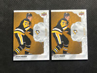 2019-20 UPPER DECK ENGRAINED EVGENI MALKIN LOT OF 2 BASE OAK WOOD #ed /299