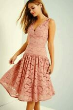 LITTLE MISTRESS APRICOT LACE MIDI DRESS SIZE 6 NEW WITH TAG RRP £84.00
