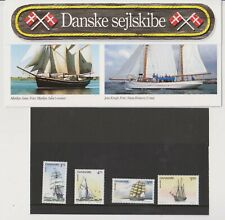1993 Denmark Tall ship presentation set MNH
