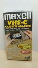 Vintage Maxell VHS-C Cassette Adapter -  Factory Sealed
