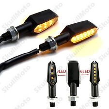 3+6 LED Mini Turn Signal Blinker Light Lamp For Harley Cafe racer Bobber Chopper