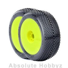 AKA Racing Gridiron II 1/8 Buggy Tires (Soft) (Mntd) (Yellow)(1pr) - AKA14013SRY