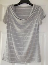 Womens Top size 12 by Soon Grey Stripe Sequins