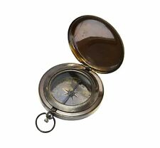 "3 ""Antiker Ross London Kompass mit Druckknopf / Taschenkompass"
