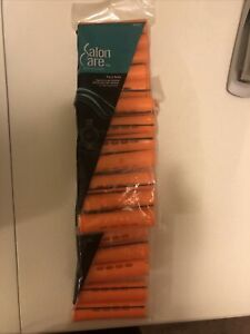 "Salon Care,12 Curved Perm Rods, 11/16"" Center -3/4"" End, Orange, Lot of 2. T6"