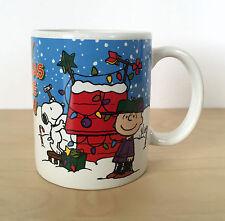 Peanuts Merry Christmas Charlie Brown Snoopy Lucy Coffee Tea Ceramic Mug Cup