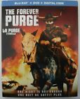 The Forever Purge (Blu-ray + DVD + Digital + Slipcover, New & Sealed)