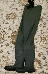FROGG TOGGS MENS GREEN BOOTFOOT WADERS SIZE 11 defect see desc (BA11)