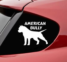 American Bully Pitbull vinyl decal sticker bumper funny dog pit bull cute