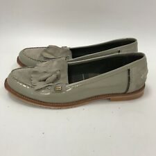 Barbour Loafers UK 8 Women Beige Leather Suede Flat Casual Slip On Shoes 291637