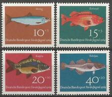 Allemagne (Ouest) 1964 neuf sans charnière-Child Welfare POISSON HARENGS Rouge-Poisson Carpe cod