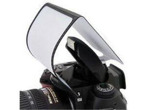 Universal Pop up Hard Screen Flash Diffuser For DSLR Canon Nikon Pentax UK STOCK