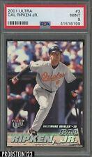 2001 Ultra #3 Cal Ripken Jr. Baltimore Orioles PSA 9 MINT