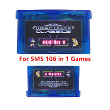 GBA SMS 106 in1 Game Cartridge Sega Master System for Game Boy SP NDS  Multicart